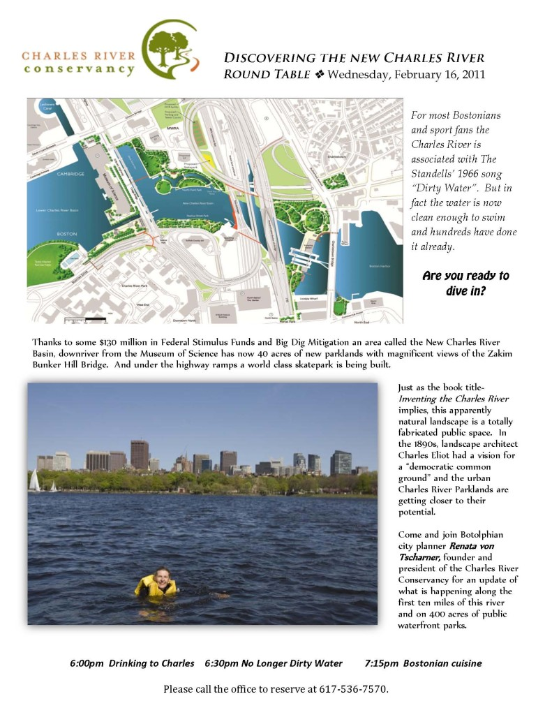 Charles River Conservancy design for St Botolph Club
