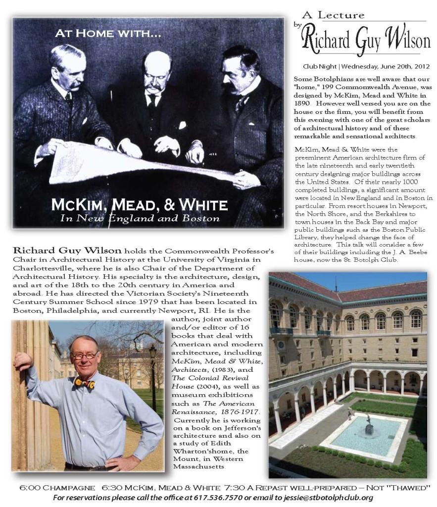 Richard Guy Wilson lecture promo