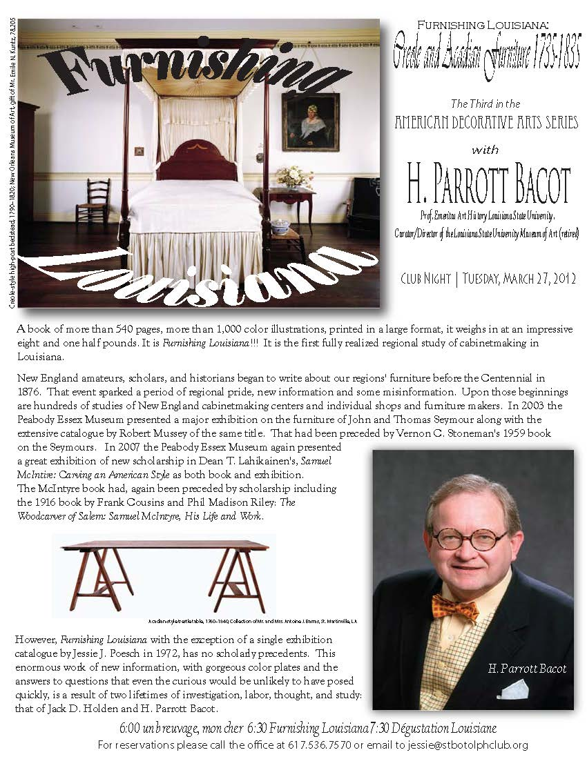 H Parrott Bacot Furnishing Louisiana promo