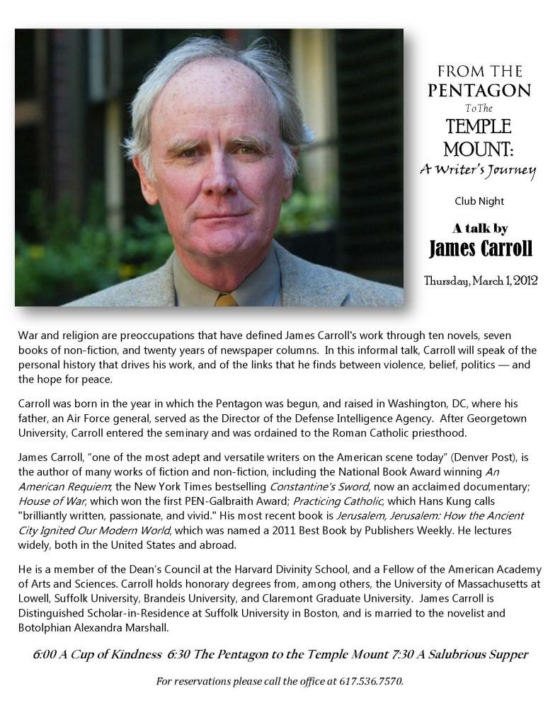 James Carroll talk promo