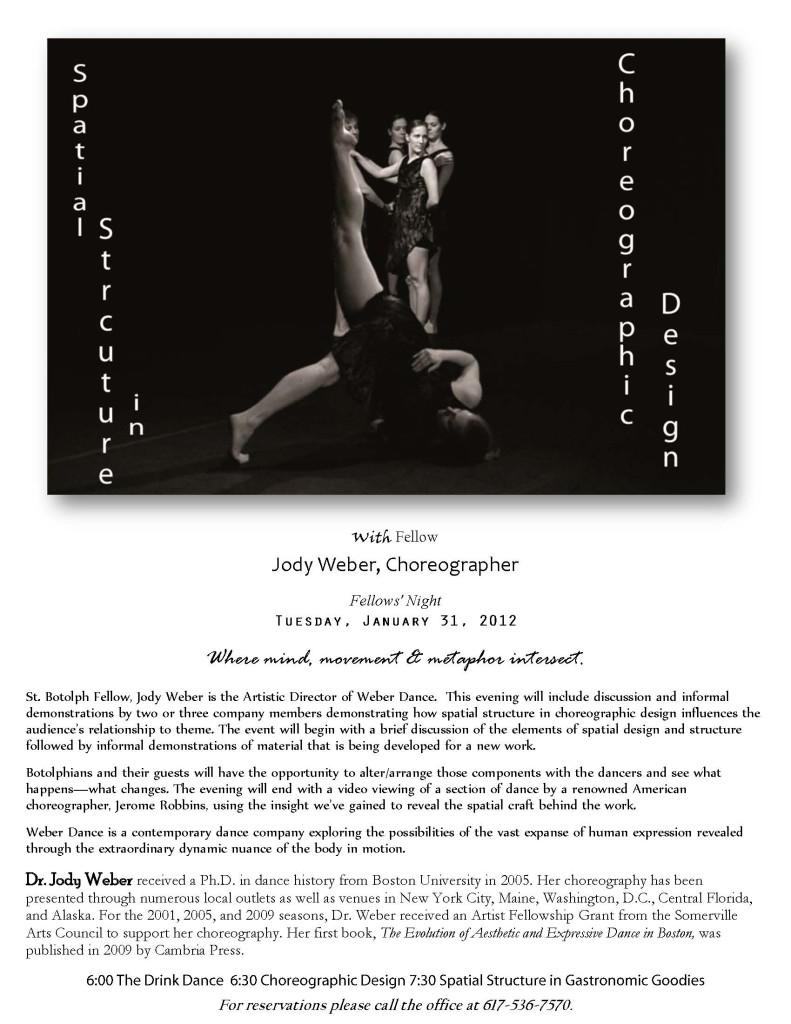 Weber Dance choreography talk promo