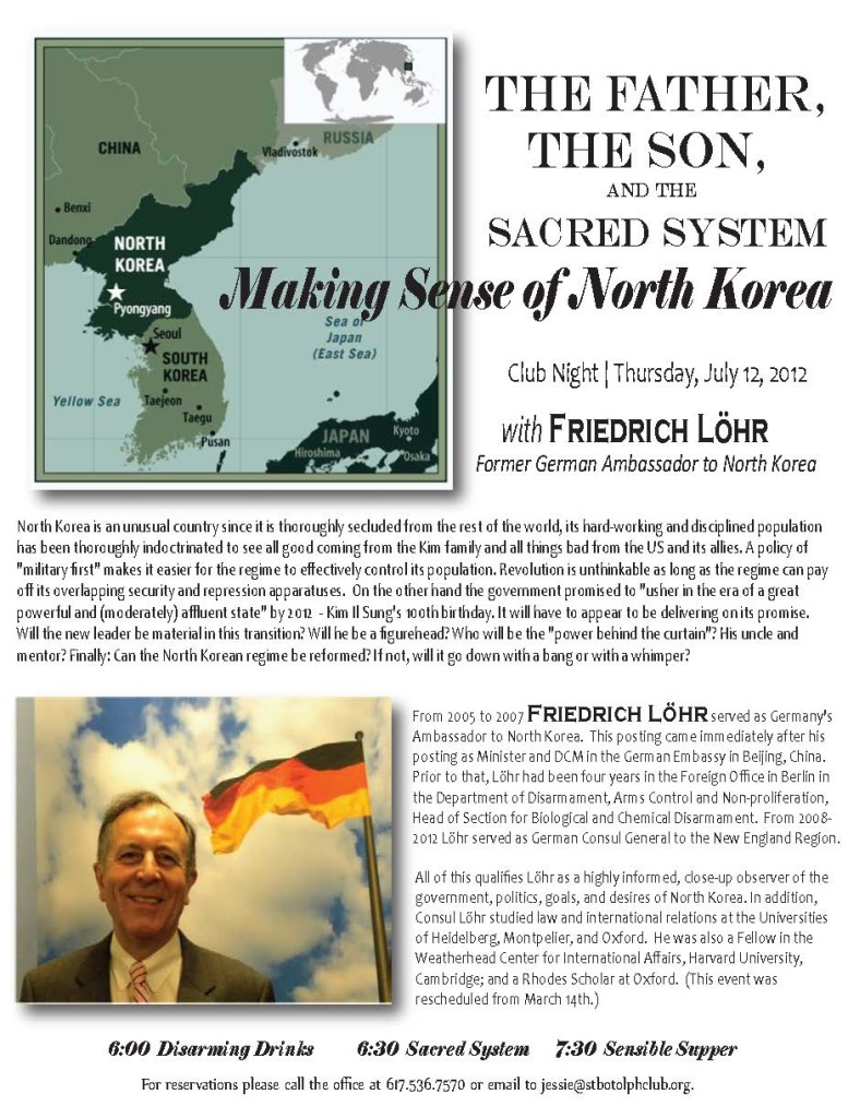 North Korea lecture promo