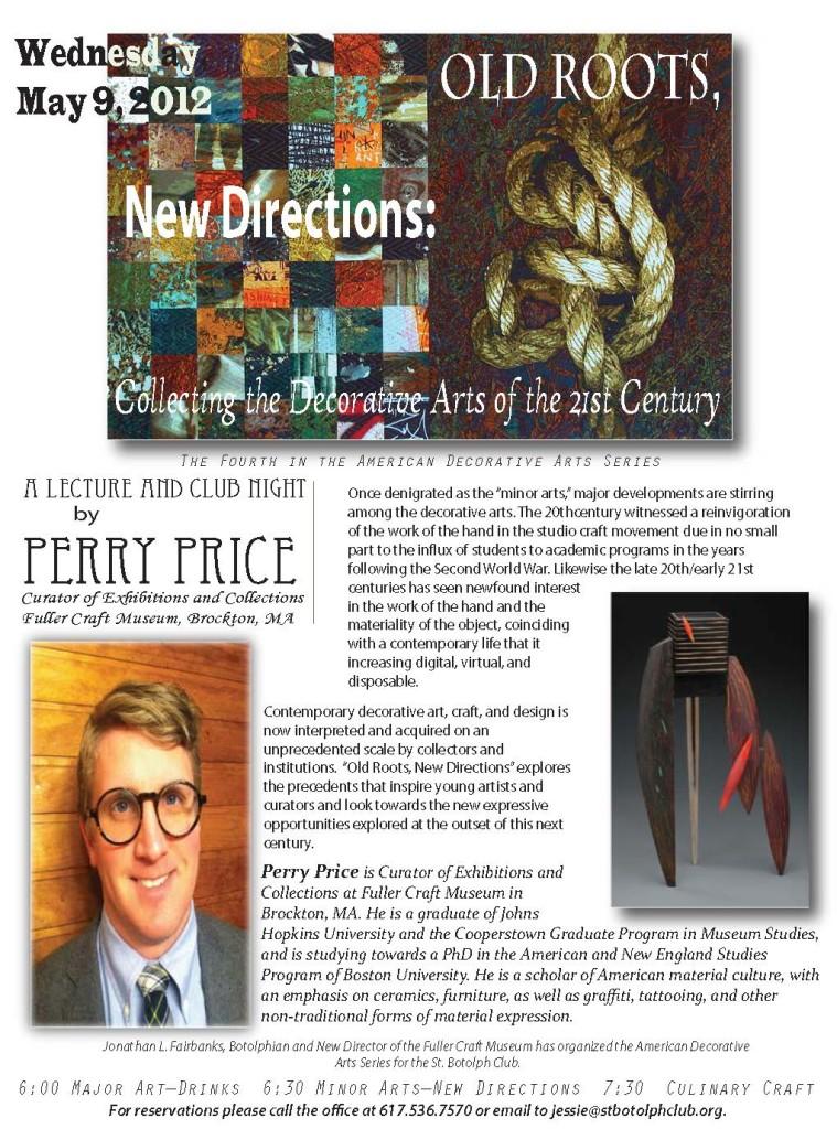 Perry Price, Fuller Craft Museum talk promo